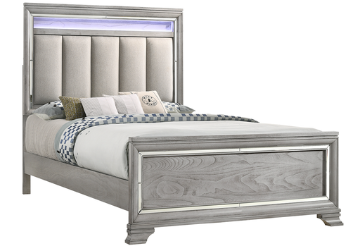 Crown Mark Vail Queen Panel Bed in Grey B7200-Q image