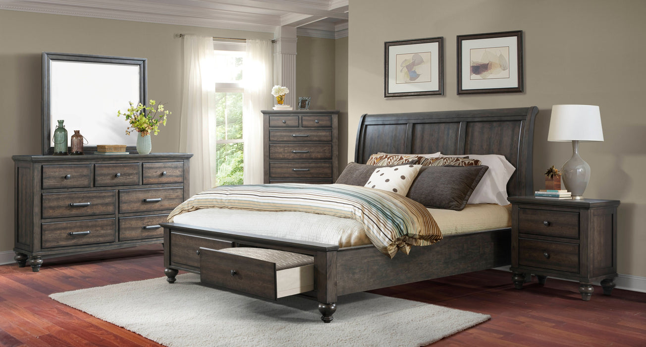 Chatham Gray King 5-Piece Bedroom Set