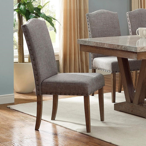 Crown Mark Vesper Side Chair (Set of 2) in Brown/Gray 1211S image