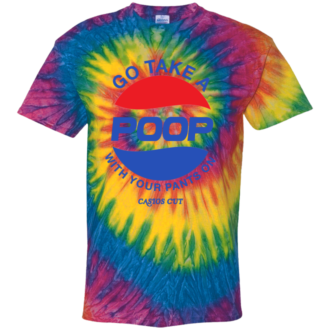 POOP 100% Cotton Tie Dye T-Shirt