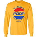 GO TAKE A POOP Long-Sleeve Tee