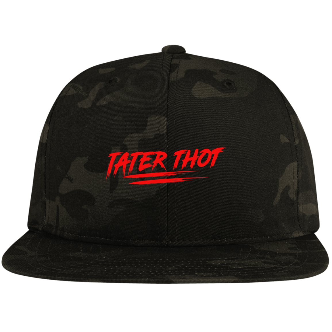 TATER THOT Flat Bill High-Profile Snapback Hat
