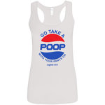 POOP Ladies' Softstyle Racerback Tank