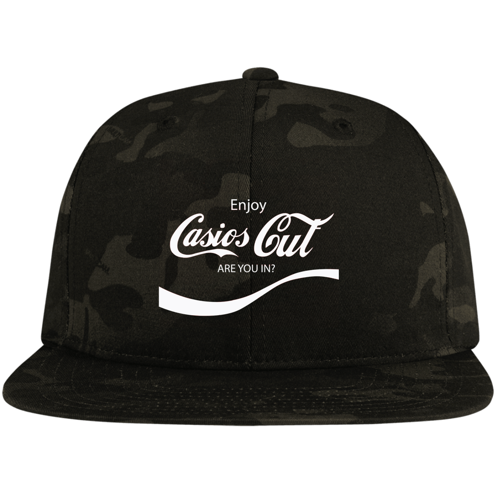 REFRESHING Flat Bill High-Profile Snapback Hat