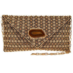 Au Natural Beaded Crossbody Clutch Handbag