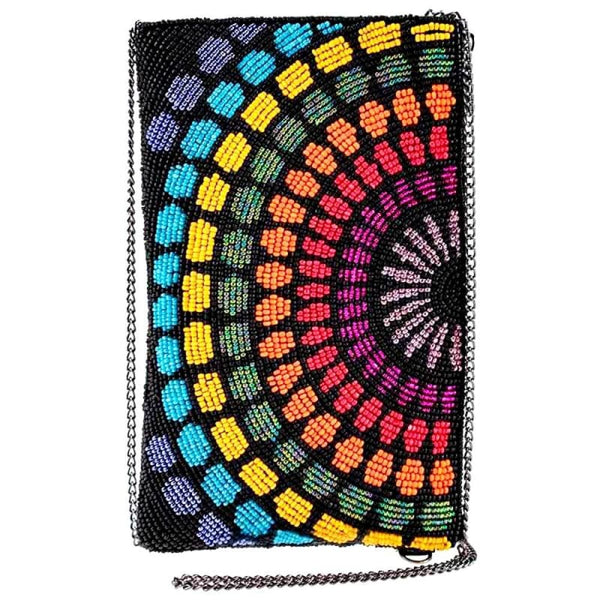 Color Fusion Beaded Crossbody Phone Bag