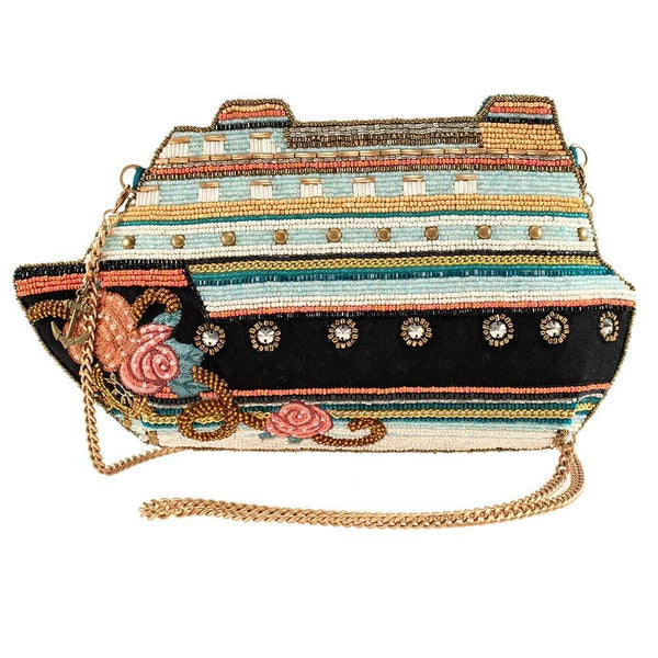 Cruise Control Beaded Ship Crossbody Handbag