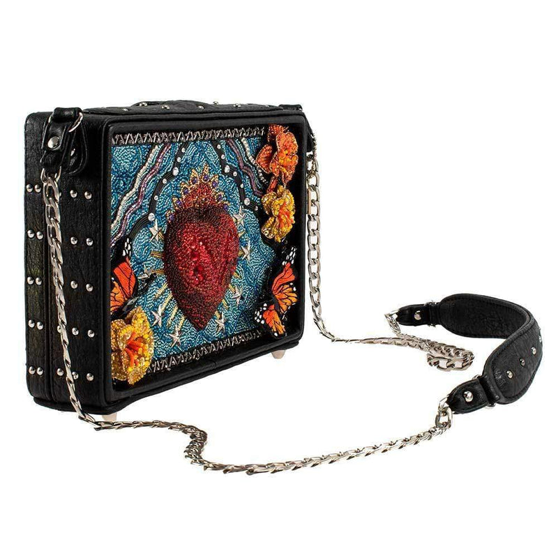 Day of the Dead Beaded Novelty Crossbody Handbag