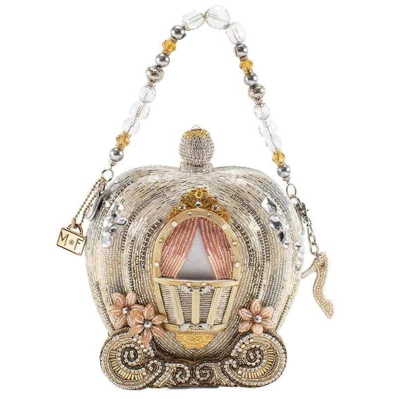 Fairy Tale Carriage Disney Cinderella Beaded Top Handle Bag