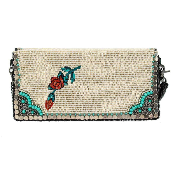 Full Of Valor Beaded Crossbody Wallet