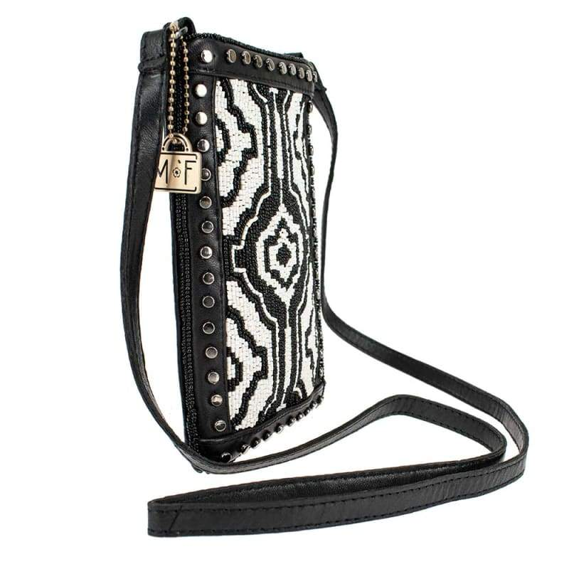 Going Native Beaded Touch Screen Crossbody Phone Bag