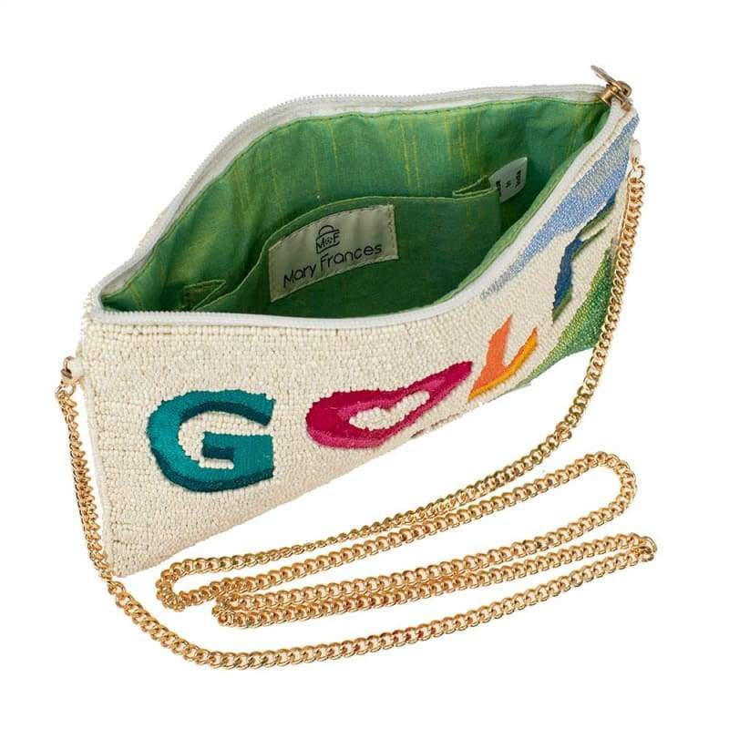 Golf Course Beaded Crossbody Handbag