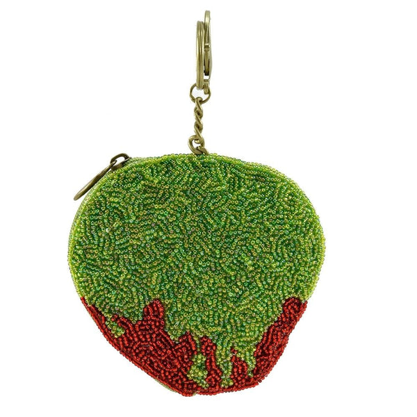 Poison Apple Disney Snow White and the Seven Dwarfs Beaded Key Fob/Coin Purse