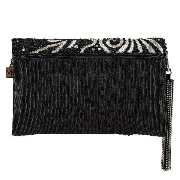 Wanna Sparkle Embellished Champagne Crossbody Clutch - Handbag