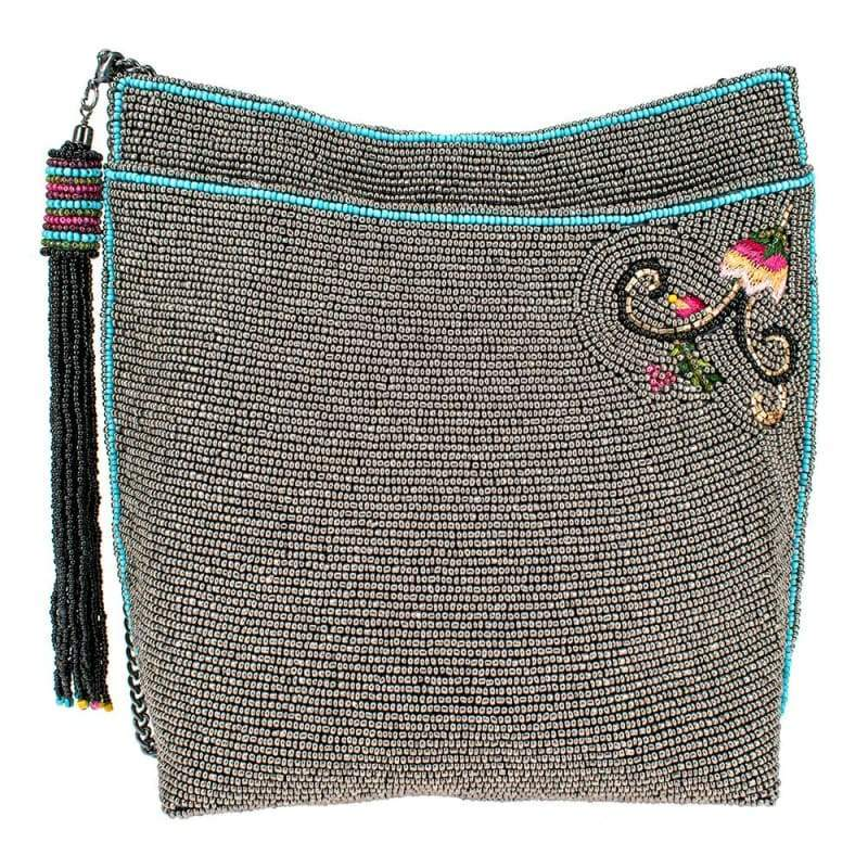 Wild Bee Beaded Crossbody Handbag