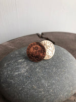 Newfoundland 10 Cent Coin Impression Stud Earrings