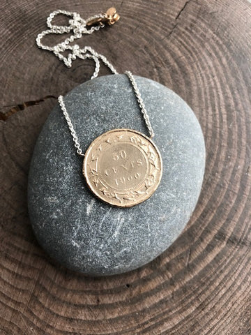 Newfoundland 50 Cent Coin Impression Necklace