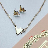 Mini Gold Newfoundland Necklace