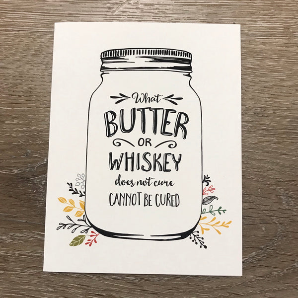 Butter & Whiskey Card