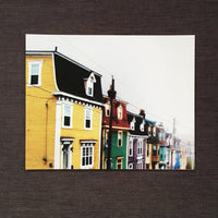 Painted Houses on a Foggy Day by Amy Adams