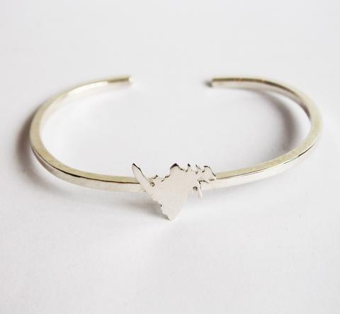 Silver Newfoundland Cuff Bracelet, Sterling Silver -Lissa Bowie Whink|Canada