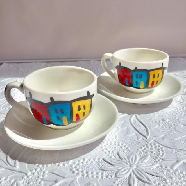Espresso Cups and Saucers -Set of 2