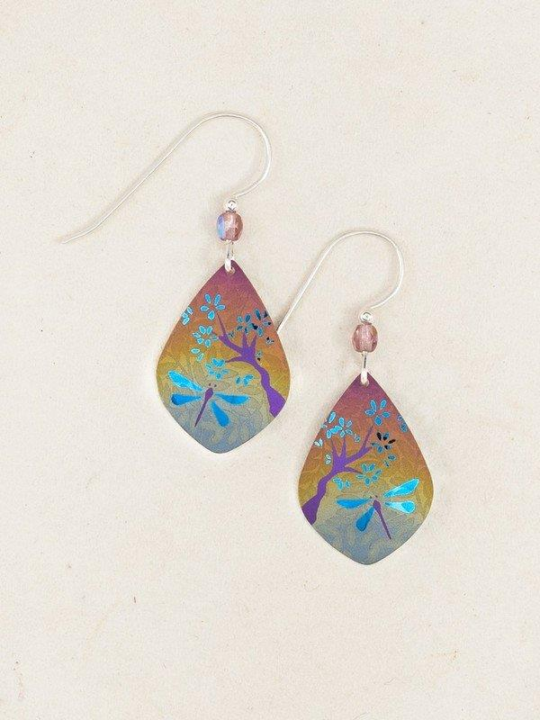 Dragonfly Dance Earrings -Multi/Teal