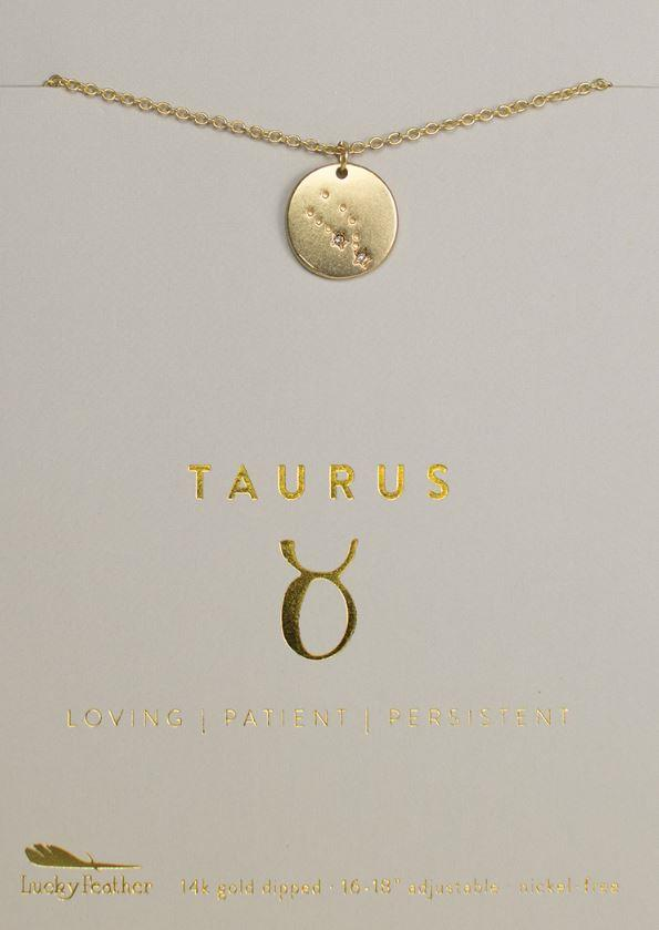 Taurus Zodiac Necklace