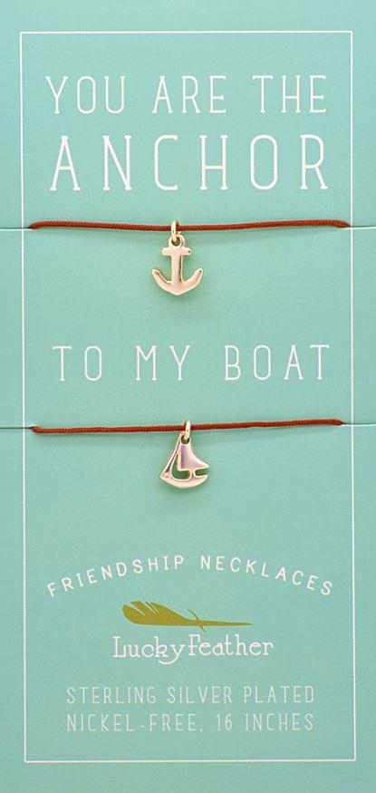 Anchor To My Boat BFF Necklaces