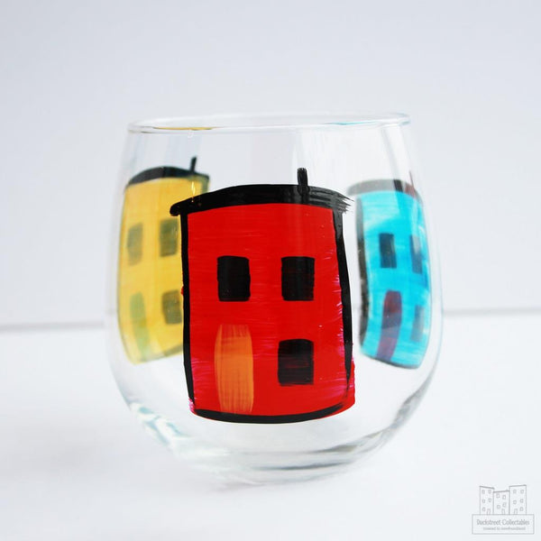 Row House Stemless Wine Glass