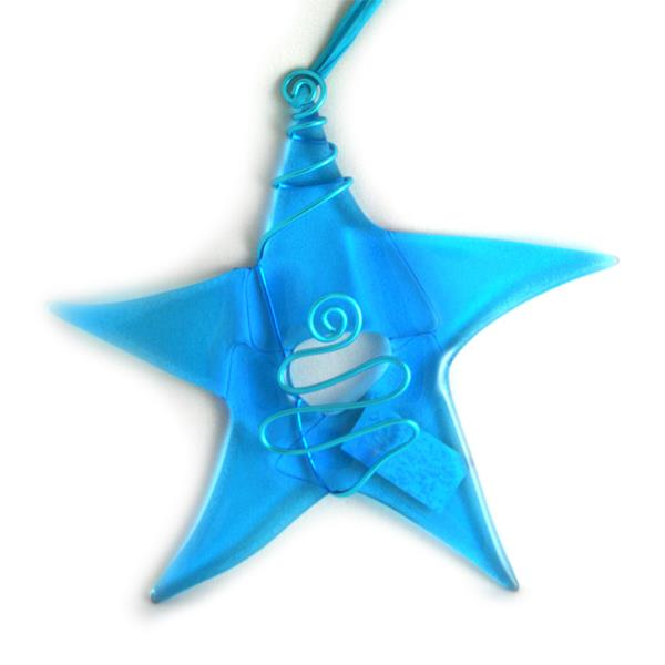 Glass Star -Sky Blue