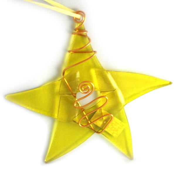 Glass Star -Yellow