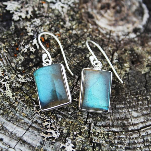 Petty Harbour Labradorite Earrings