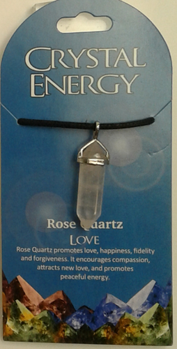 Crystal Energy Pendant Point - Rose Quartz