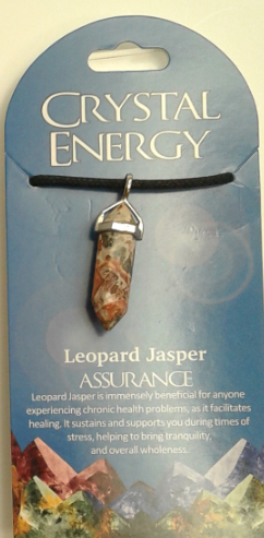 Crystal Energy Pendant Point - Leopard Skin