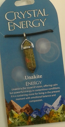 Crystal Energy Pendant Point - Unakite