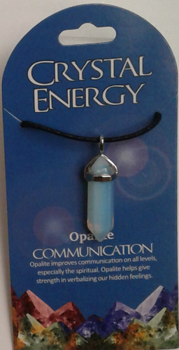 Crystal Energy Pendant Point - Opalite