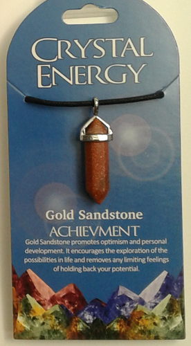 Crystal Energy Pendant Point - Goldstone