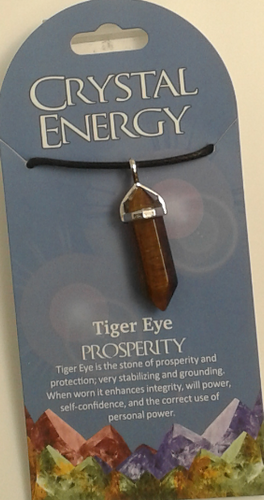 Crystal Energy Pendant Point - Tigers Eye