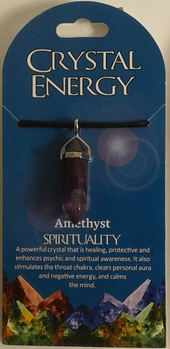 Crystal Energy Pendant Point - Amethyst