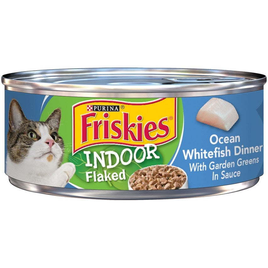 Friskies Selects Indoor Flaked Ocean Whitefish Canned Cat Food