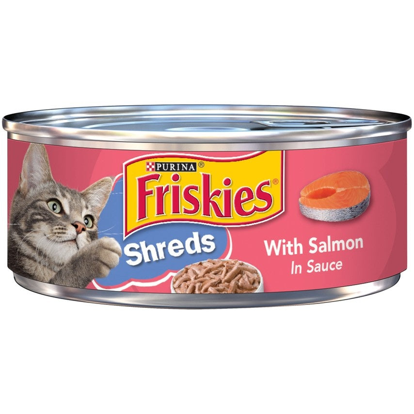 Friskies Savory Shreds Salmon in Sauce Canned Cat Food