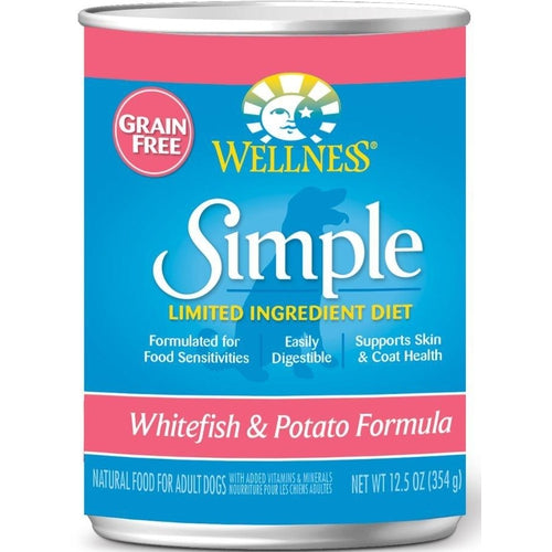 Wellness Simple Natural Limited Ingredient Diet Whitefish and Potato Recipe Wet Canned Dog Food