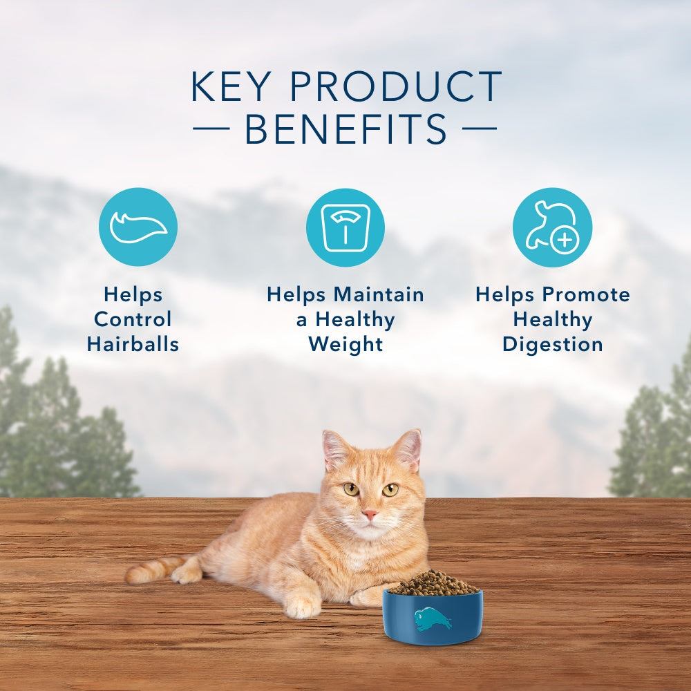 Blue Buffalo Wilderness Grain Free Hairball & Weight Control Natural Chicken High Protein Recipe Indoor Dry Cat Food