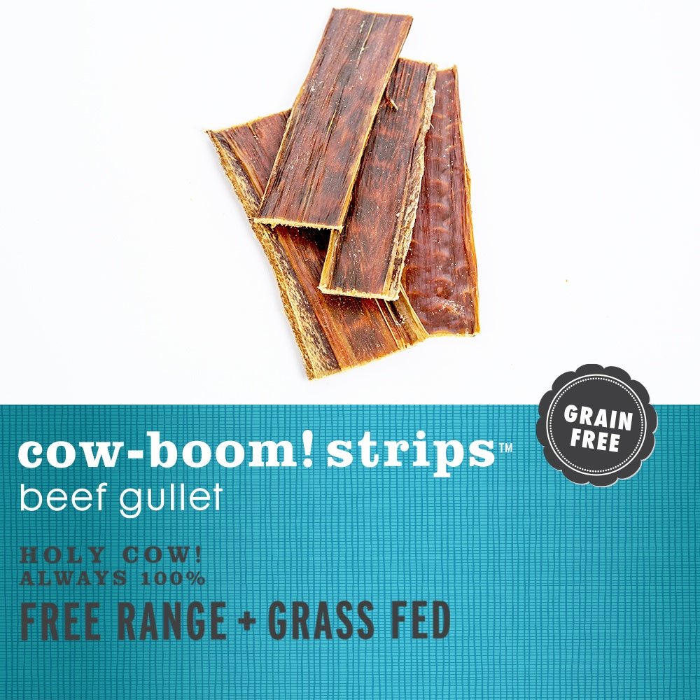 I and Love and You Free-Range Grass-Fed Cow-Boom! Strips Beef Gullet Dog Chews