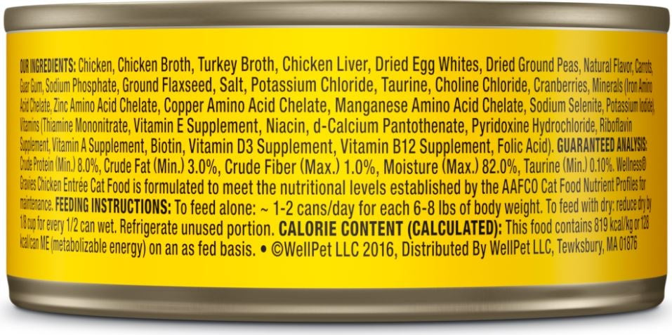 Wellness Natural Grain Free Gravies Chicken Dinner Canned Cat Food