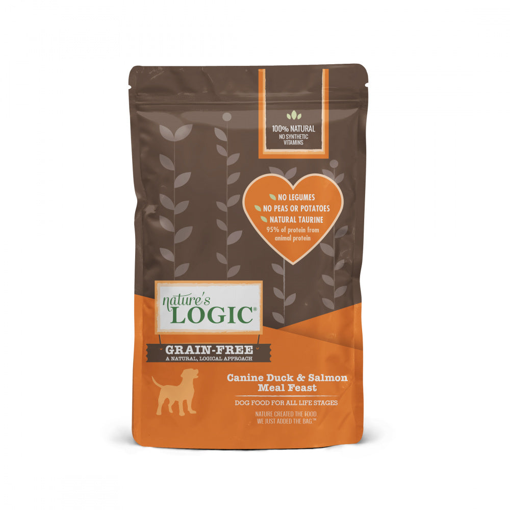 Nature's Logic Grain Free Canine Duck & Salmon Meal Feast Dry Dog Food