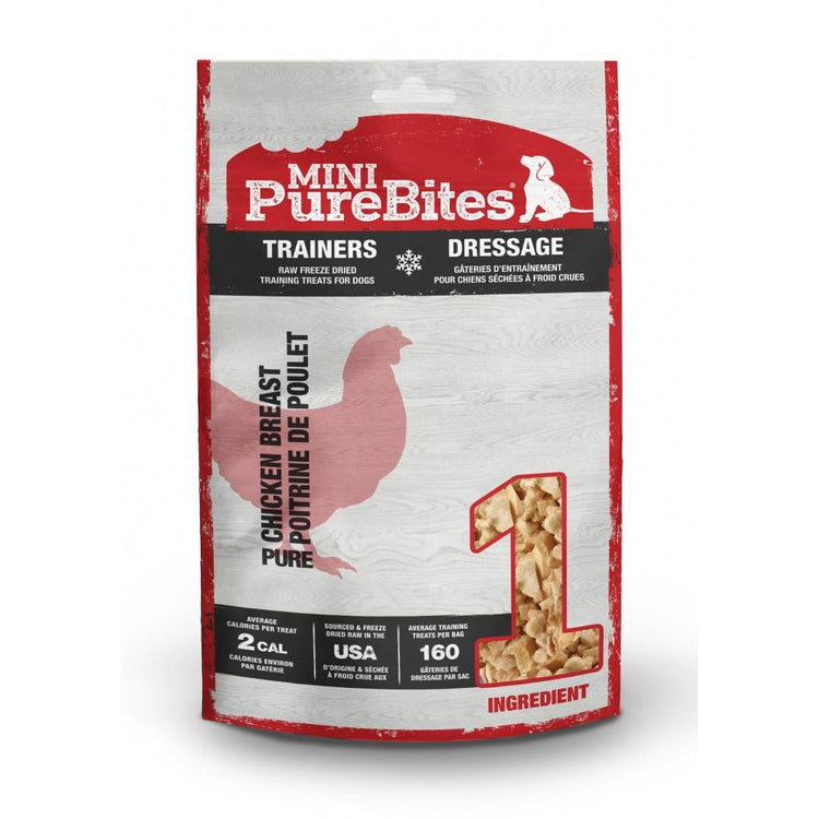 PureBites Mini PureBites Trainers RAW Freeze Dried Chicken Breast Dog Treats