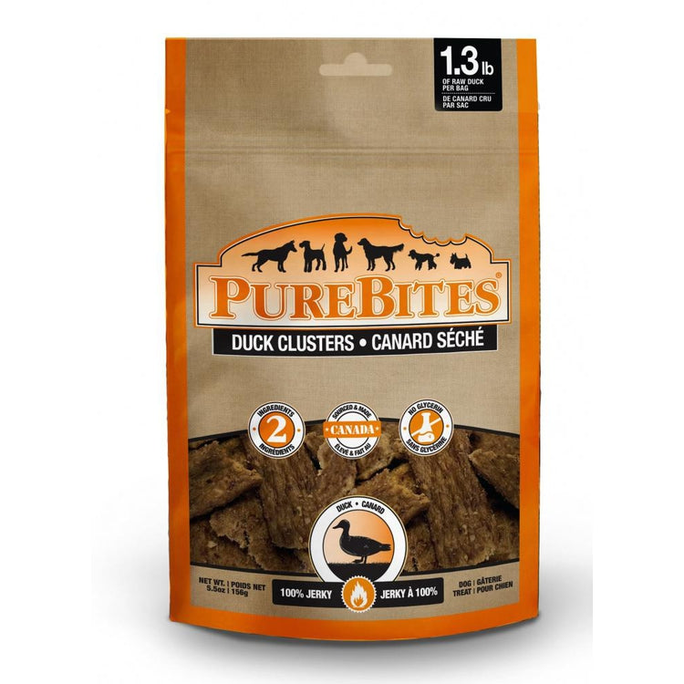PureBites Duck Jerky Freeze Dried Raw Dog Treats