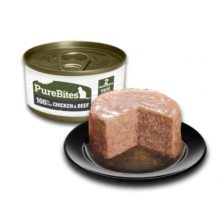 PureBites 100% Pure Chicken & Beef Pate Cat Food Topper Treat